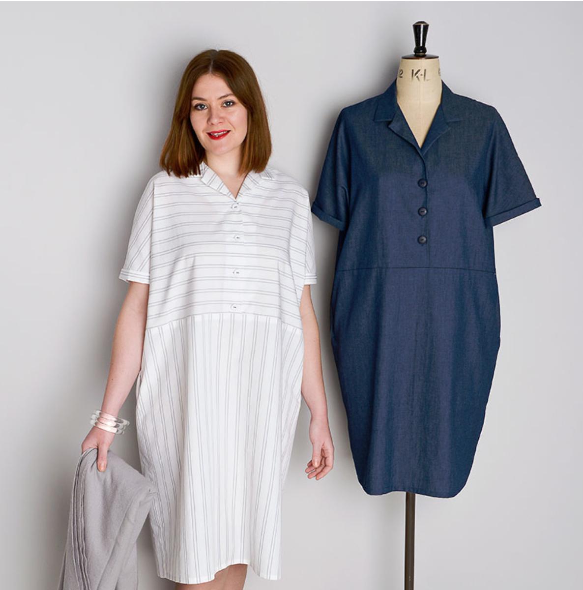 10 shirt dress sewing patterns for summer - The Foldline