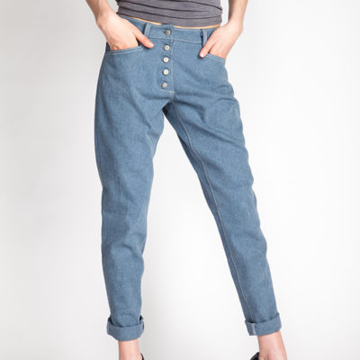 The Wyome boyfriend jeans sewing pattern from Named Clothing from The Fold Line