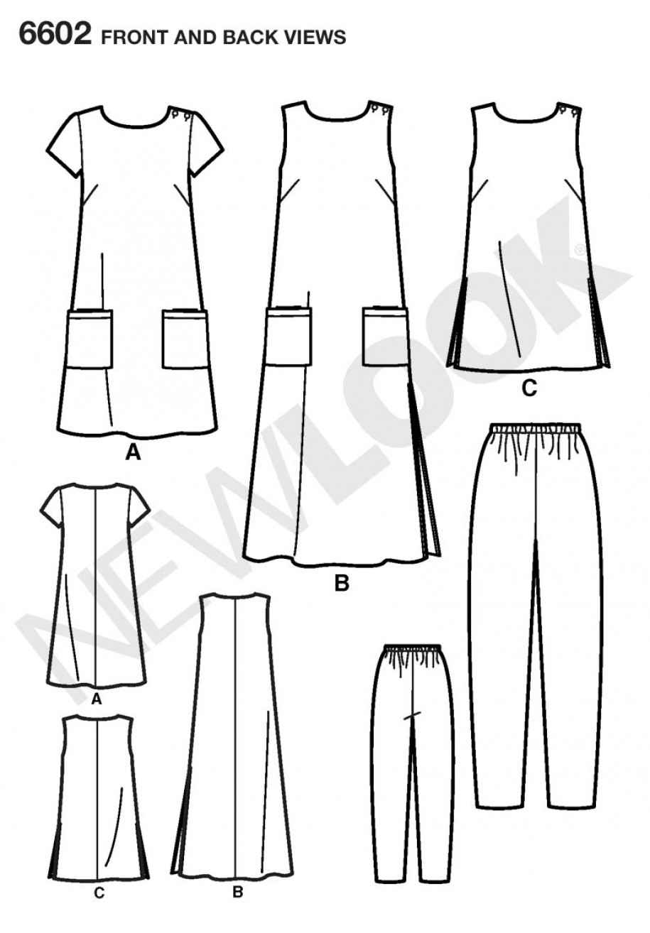 Top and Trousers Sewing Pattern 6602 New Look  Misses/' Dress