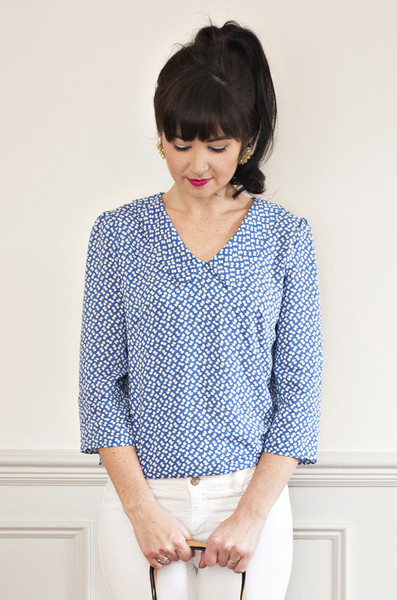 Buy the Susie blouse sewing pattern from Sew Over It from The Fold Line