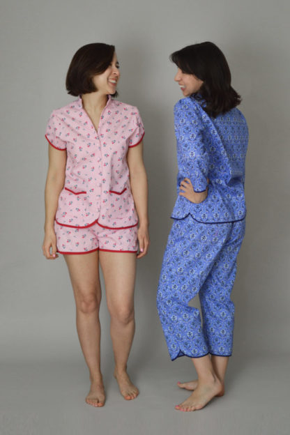 Buy the Piccadilly pyjamas sewing pattern from Nina Lee London from The Fold Line