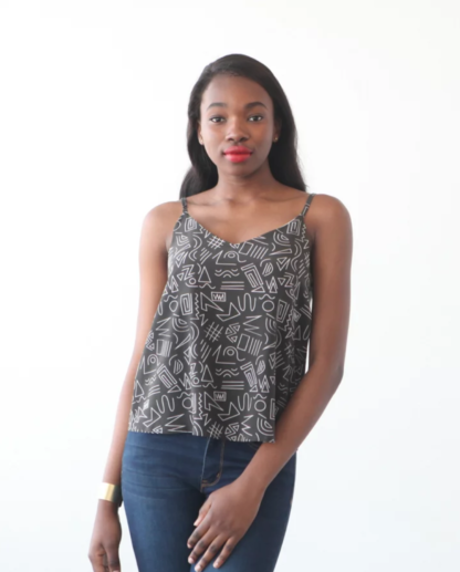 Buy the Ogden cami top sewing pattern from True Bias from The Fold Line