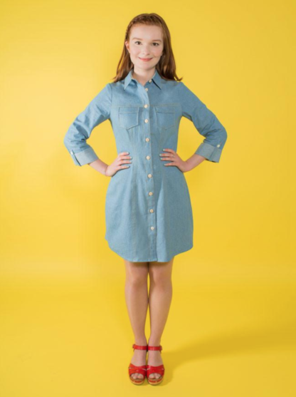 Buy the Rosa shirt sewing pattern from Tilly and the Buttons on The Fold Line