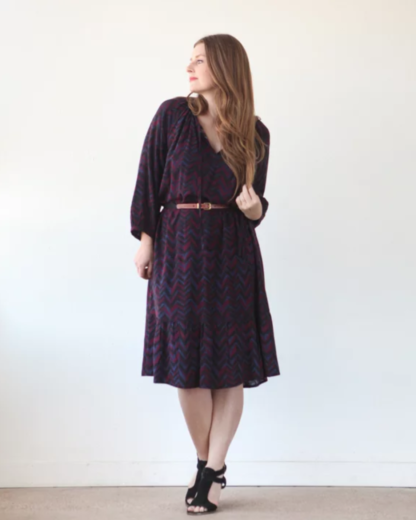 Buy the Roscoe dress and top sewing pattern from True Bias from The Fold Line