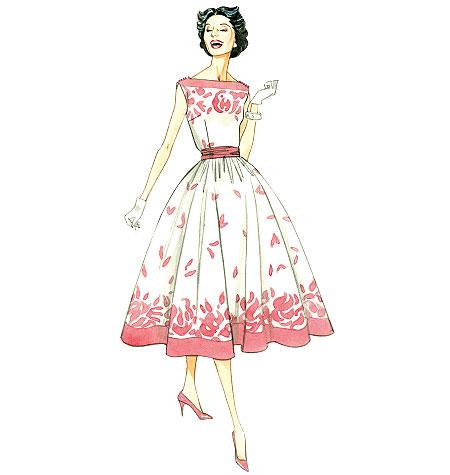 Vogue Sewing Pattern V8789 Women/'s Vintage Dress With Cummerbund