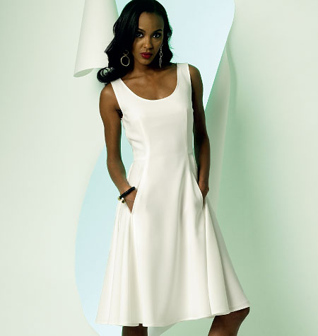 8-10-12-14-16 Vogue Patterns V8996 Misses Dress Sewing Template Size B5