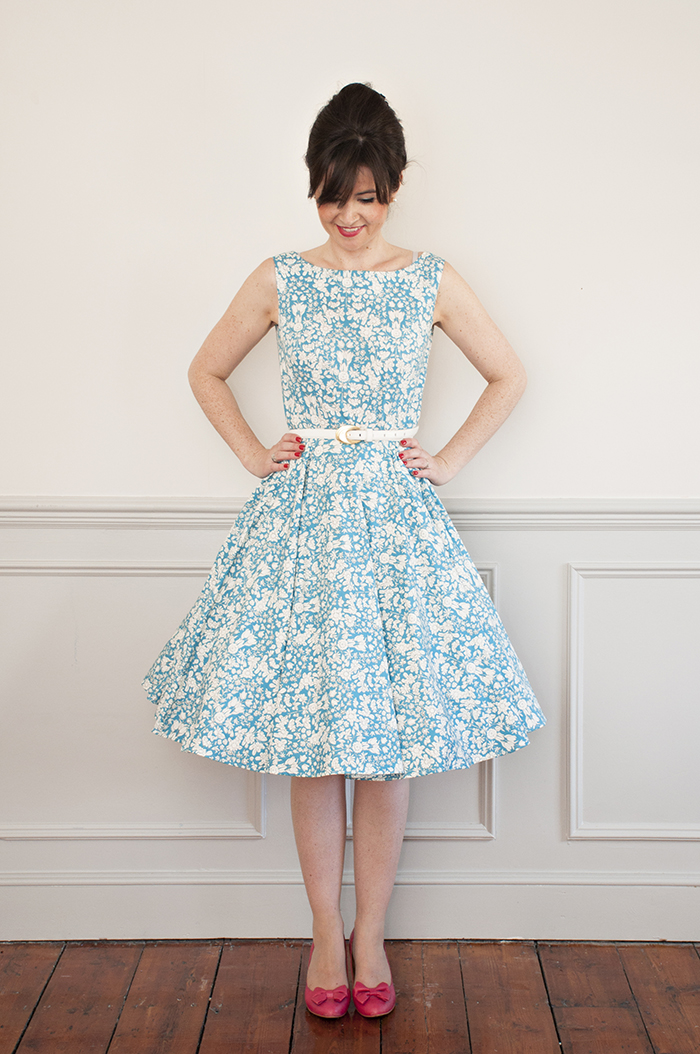 Buy the Betty dress sewing pattern from Sew Over It on The Fold Line