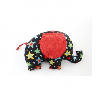 Elephant shaped toy sewing pattern by Crafty Kooka. A soft toy pattern made in any fabric of your choice. Sew your very own elephant with this unique and imaginative pattern.