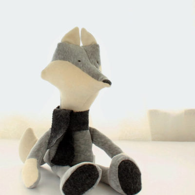 Fox shaped toy sewing pattern by Crafty Kooka. A soft toy pattern made in wool felt or cotton fabrics. Sew your very own fox with this unique and imaginative pattern.