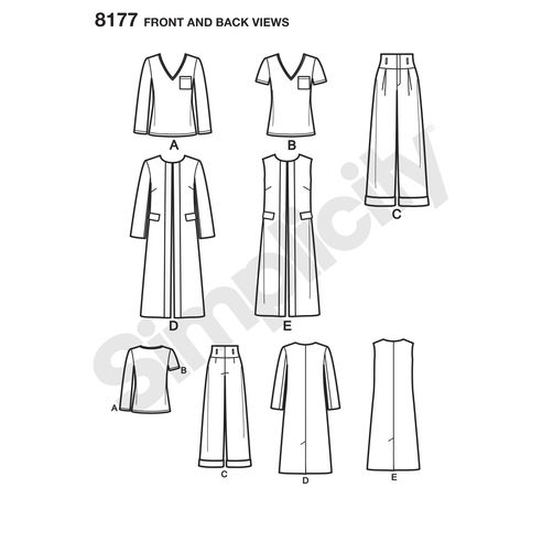 Coat or Vest and Knit Top For Mis Simplicity Pattern 8177 Mimi g Style Trouser