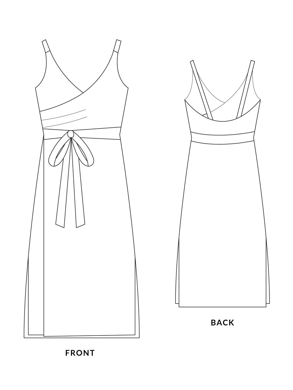 Sparrow Wrap Dress The Foldline