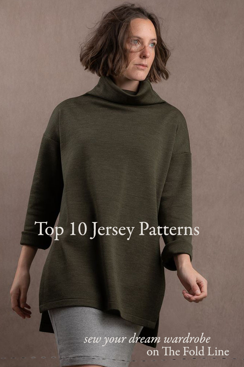The Top 10 Jersey sewing pattern available on The Fold Line