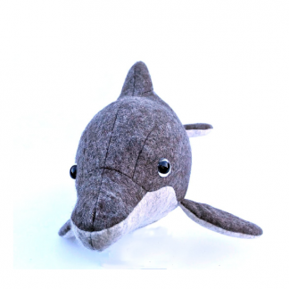 Soft toy, the Dolphin Soft Toy sewing pattern by Crafty Kooka. A soft toy pattern made in wool felt, cotton, linen, plush or minky fabrics.
