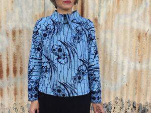 Elastic Tie Sweater in wax print