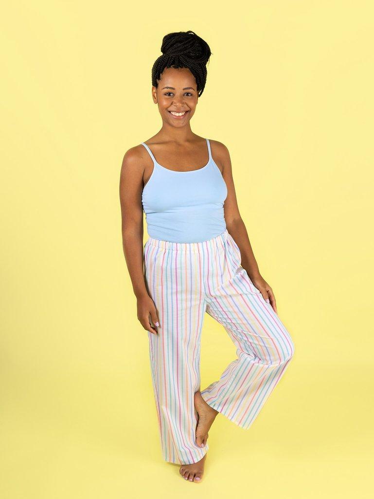 pyjama top and bottoms