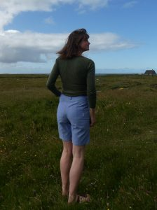 Back view of the Vaulion shorts, showing the neat fit.