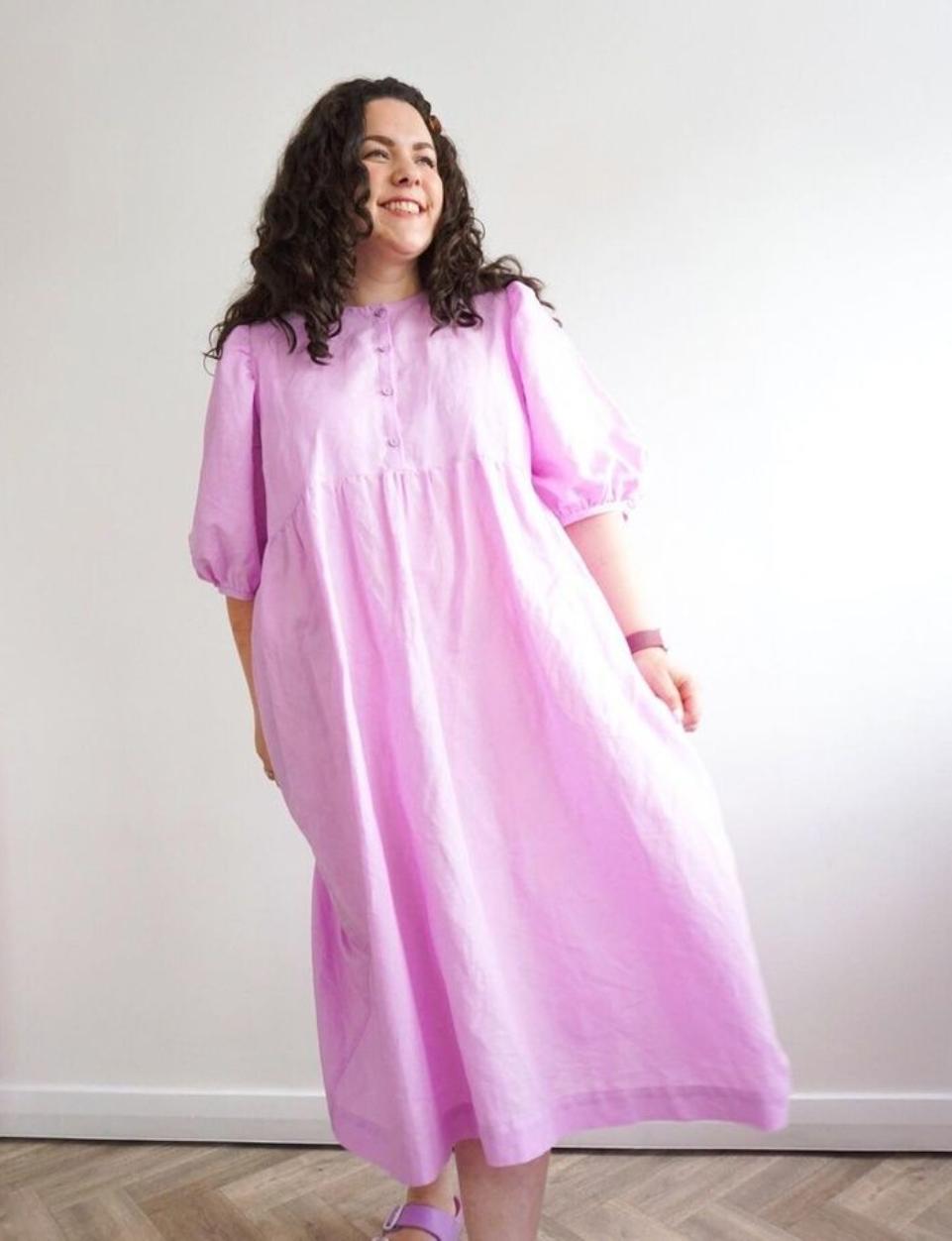 Purple Sewing Cloud's Anthea blouse hack