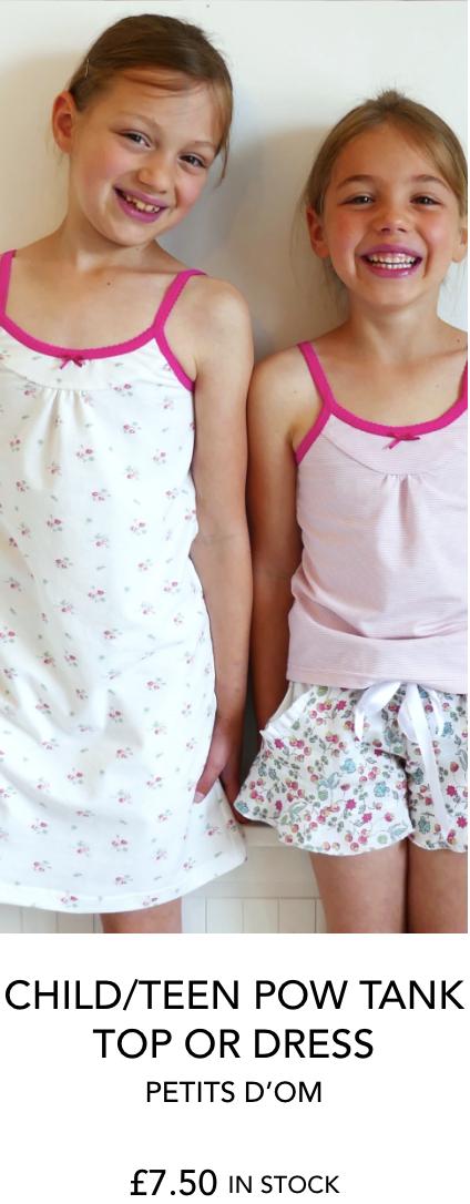 CHILD/TEEN POW TANK TOP OR DRESS PETITS D'OM