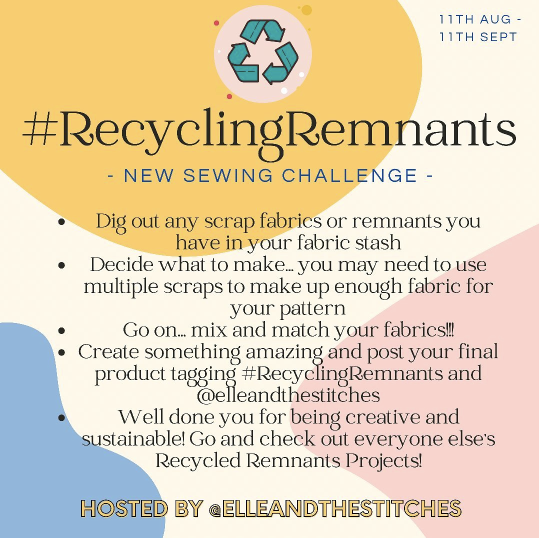 Recycling Remnants challenge hosted by Elle Stitches