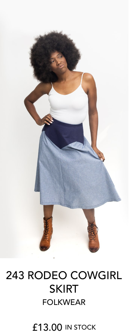 243 RODEO COWGIRL SKIRT by FOLKWEAR from The Fold Line