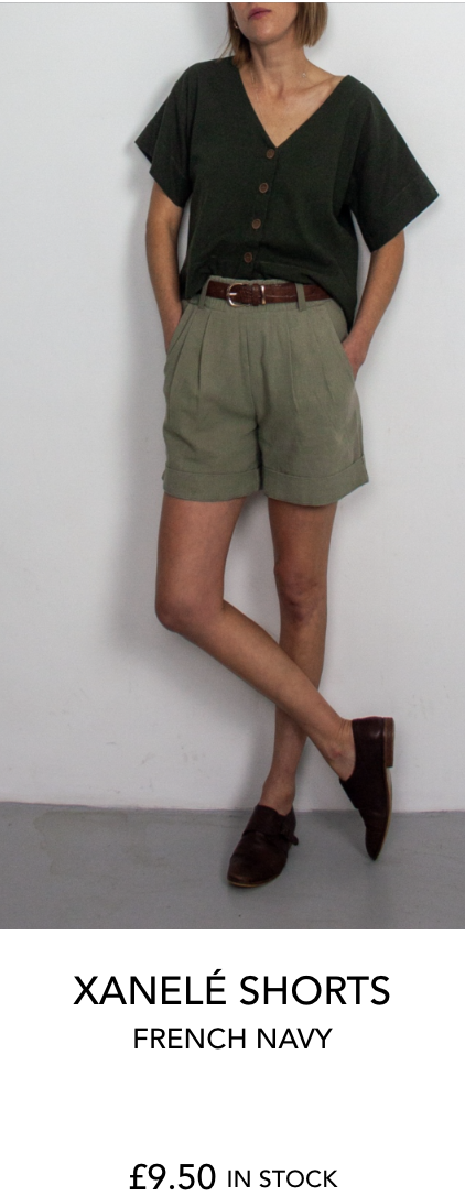 Xanelé shorts by French Navy Patterns from The Fold Line