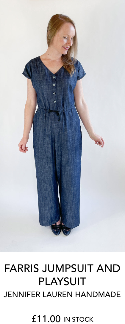 Farris jumpsuit and playsuit from Jennifer Lauren Handmade from The Fold Line